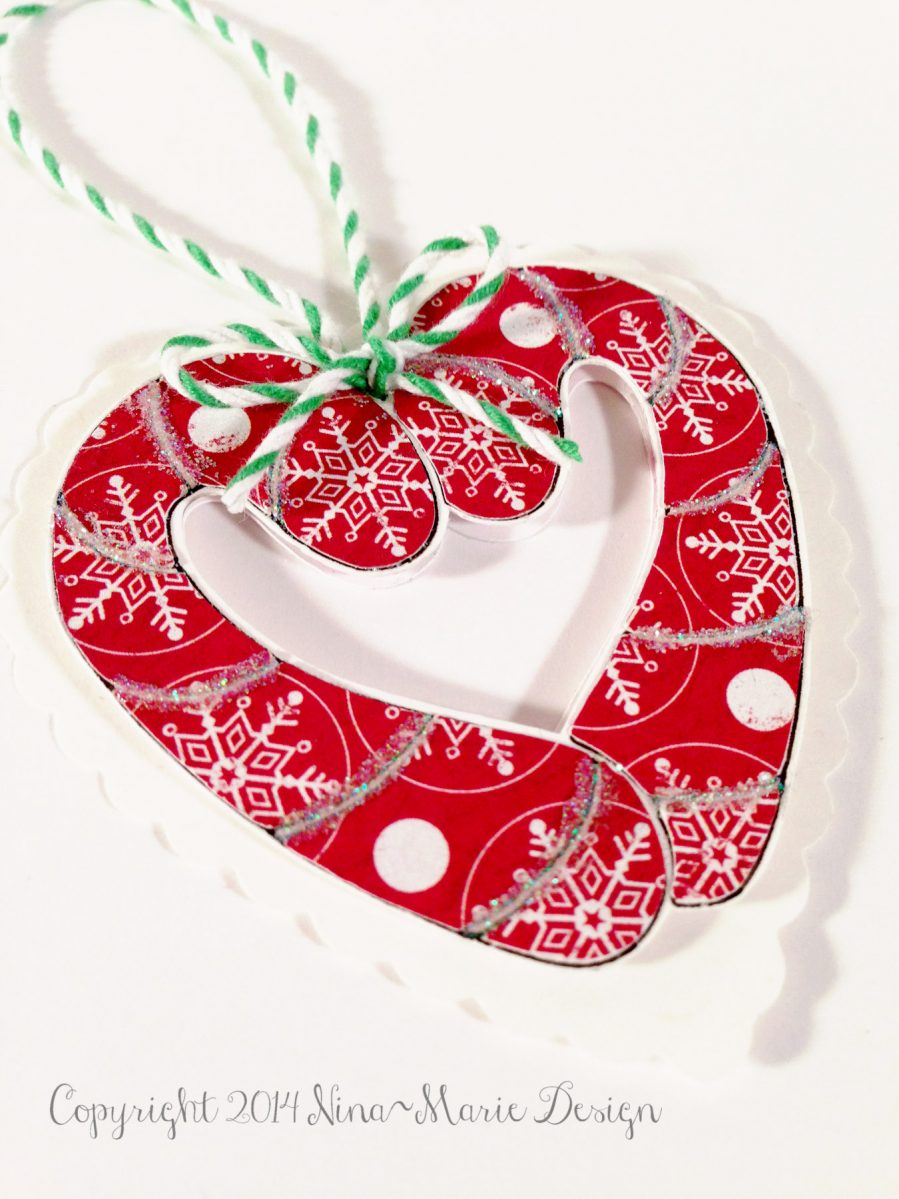Sunday spotlight candy cane heart ornament nina marie