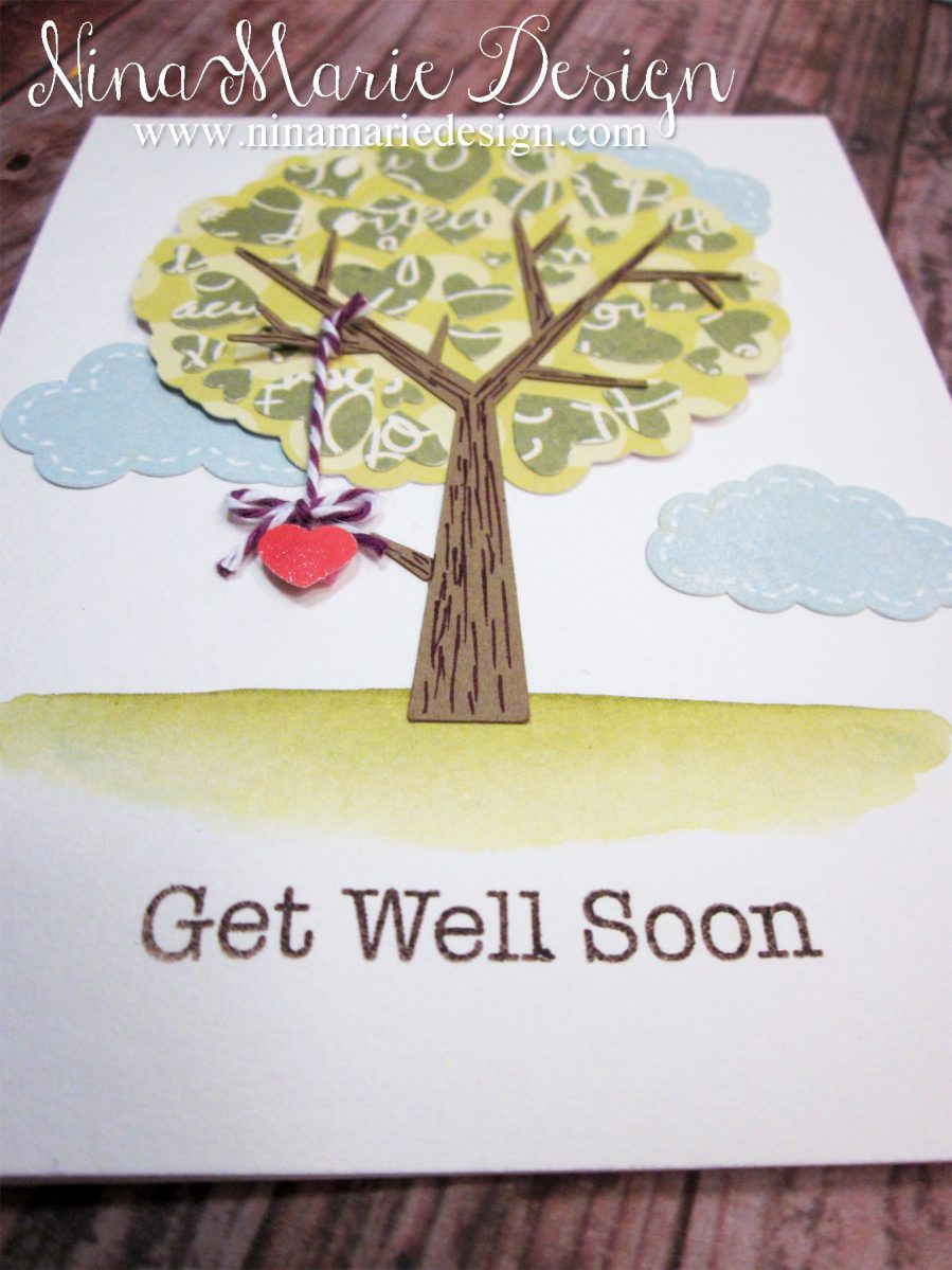 Paper Pieced Get Well Wishes Nina Marie Design