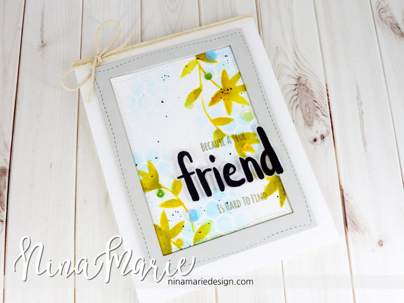 Clean & Simple Distress Stenciling + Whimsy Reveal #2 _3