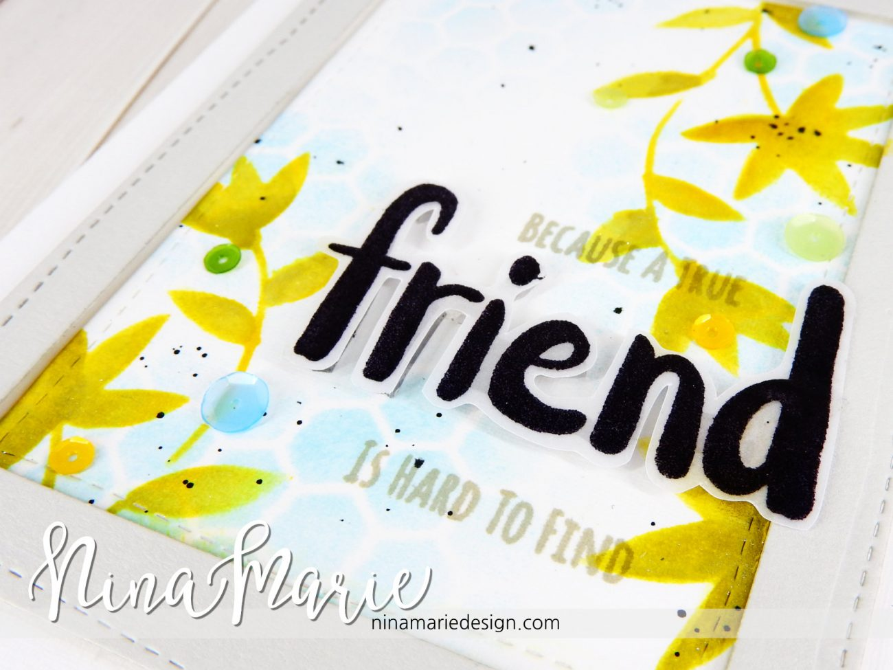 Clean & Simple Distress Stenciling + Whimsy Reveal #2 _4