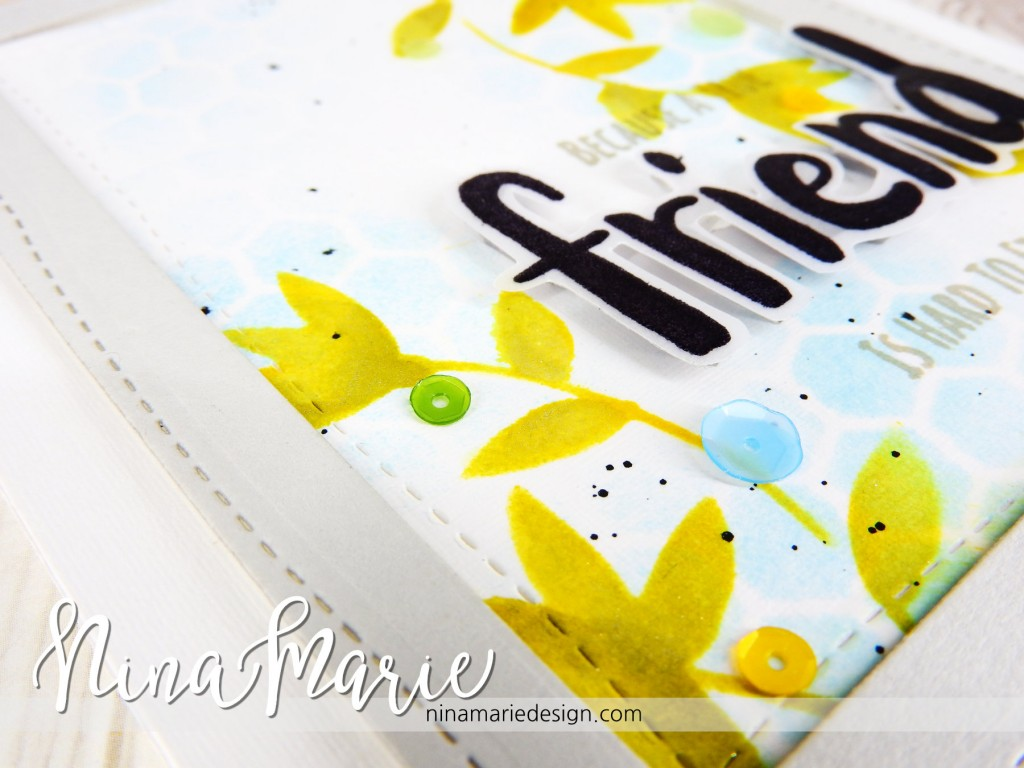 Clean & Simple Distress Stenciling + Whimsy Reveal #2 _5