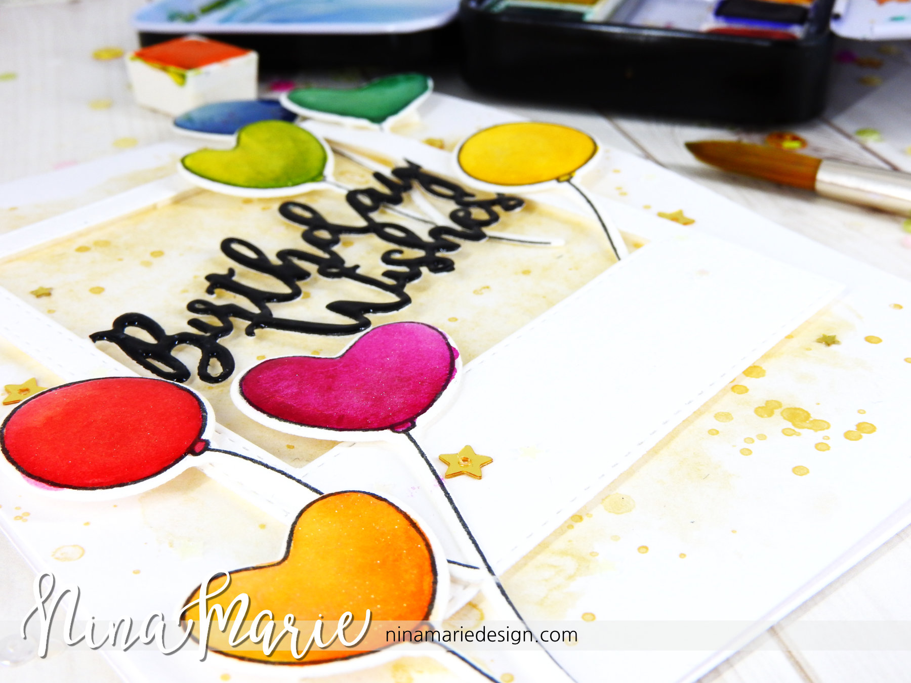 Simon Says Stamp My Favorite Release Birthday Watercolor Card