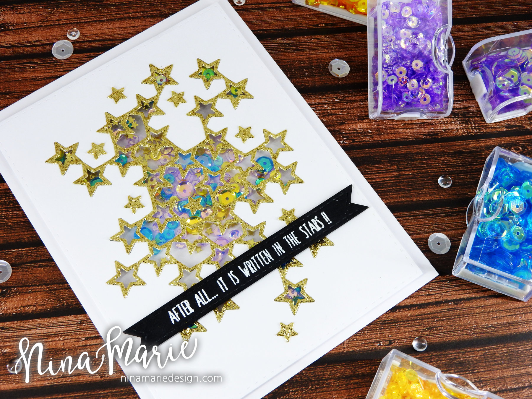 Glitter Die Cut Shaker + Simon's Among the Stars Release_3