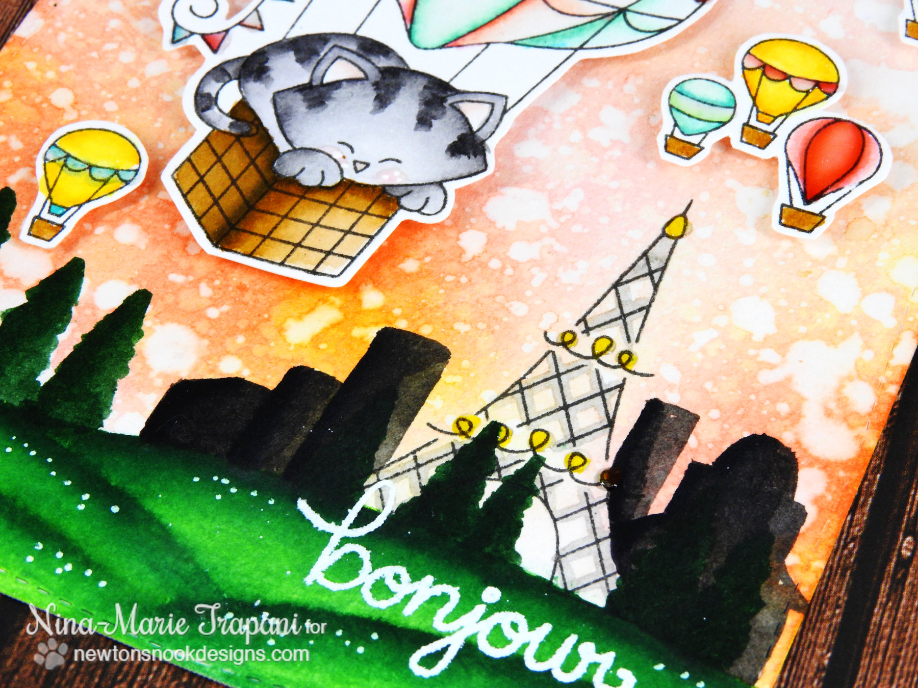 Sunset Cityscape with Zigs + Distress Inks_3
