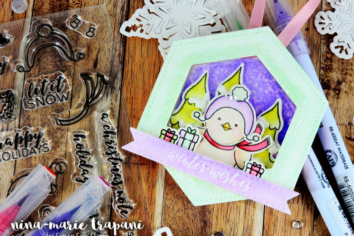 STAMPtember: Pretty Pink Posh + Shadow Box Shaker Ornament