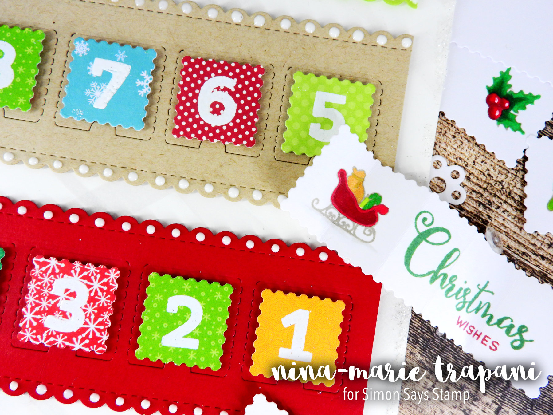 Simon Says Stamp Hop + Die Cut Advent Calendar Nina-Marie Design