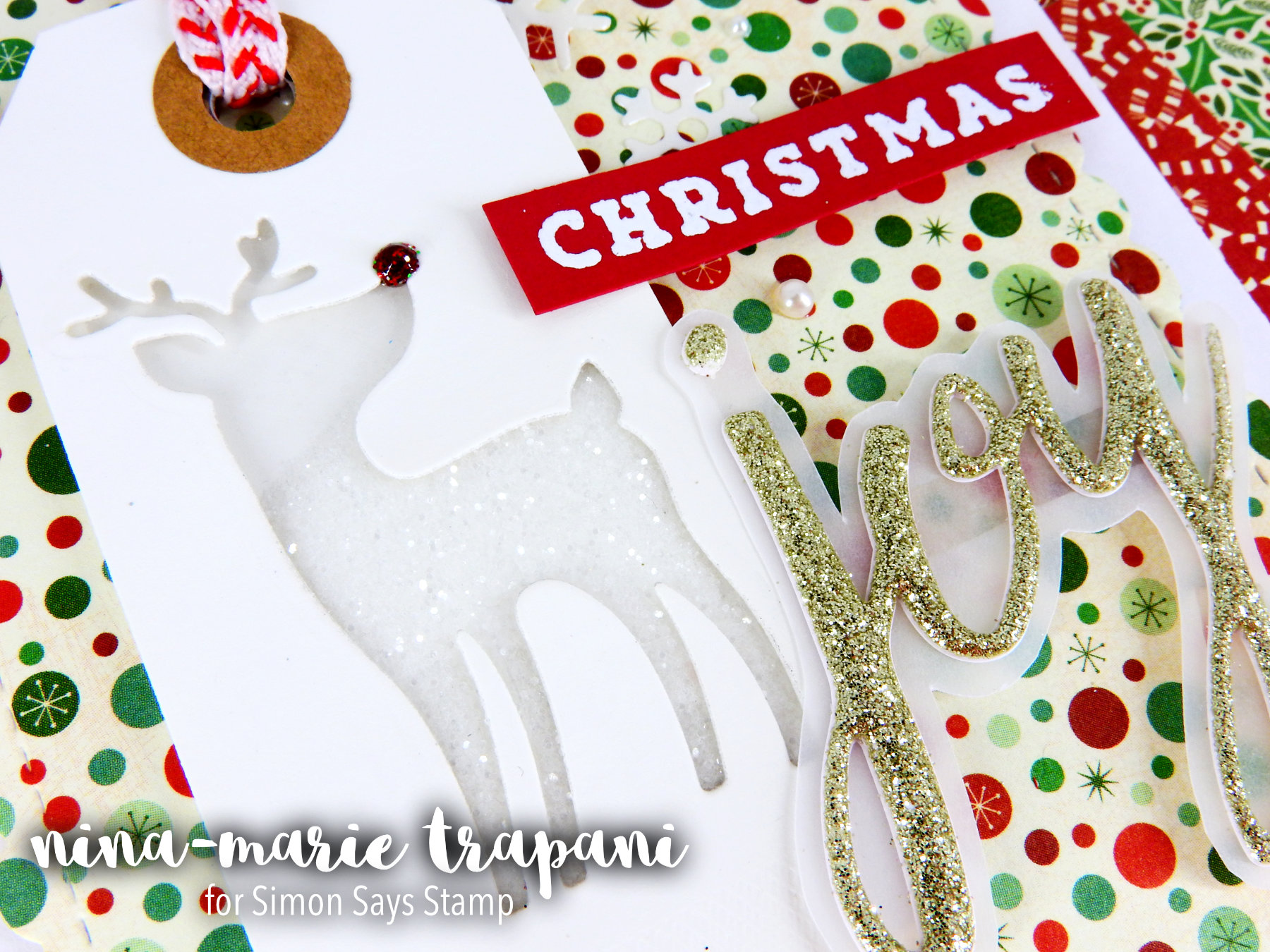 Glitter Die Cut Shaker + Simon's Holiday Card Kit Nina-Marie Design