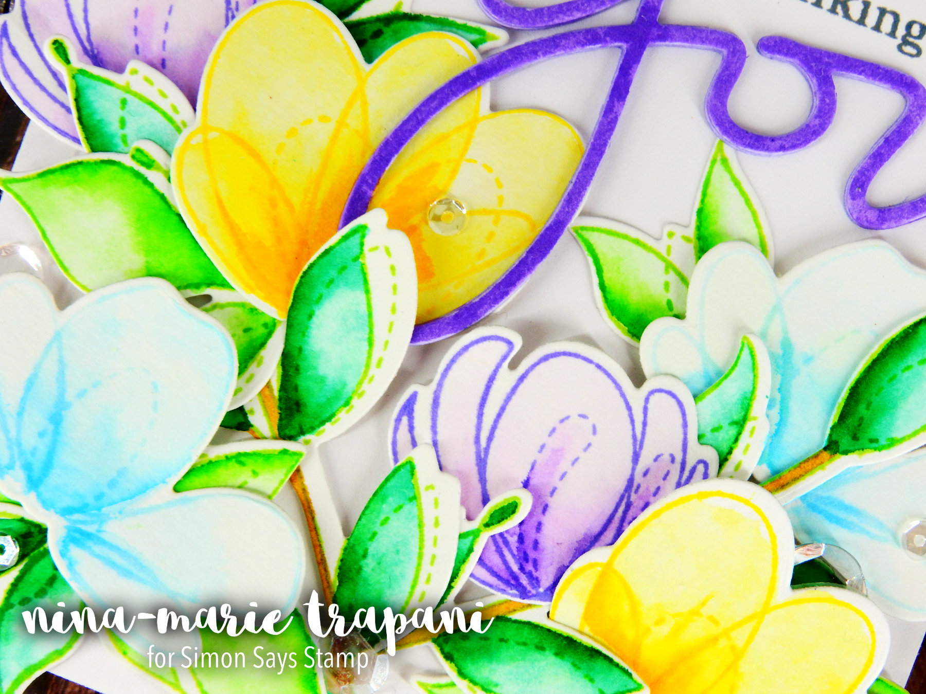 Watercolor Flowers + Forget Me Not Day Nina-Marie Design