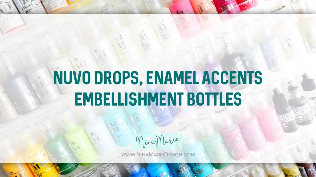 Nuvo, Enamel Accents & Embellishment Bottles Craft Room Organization
