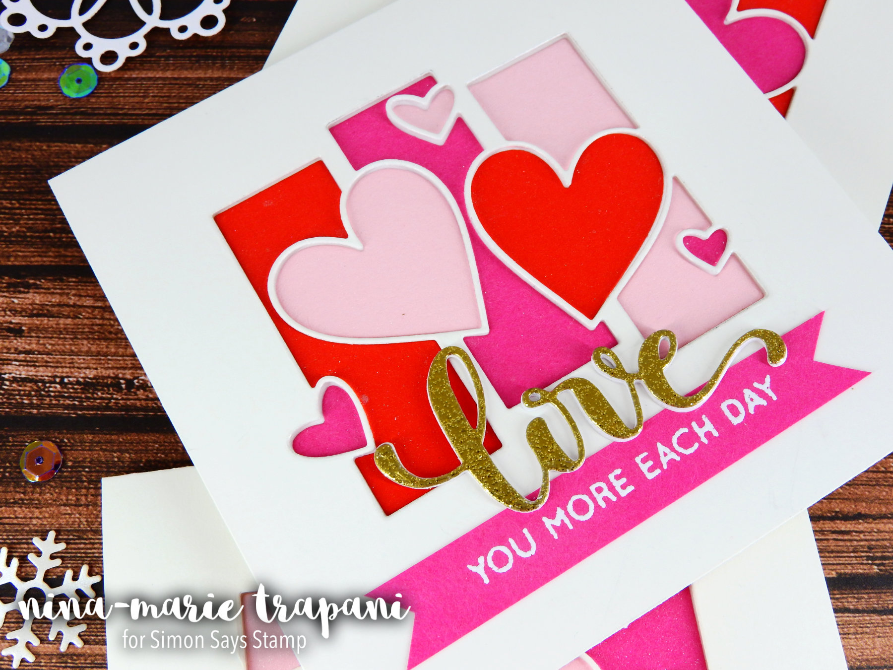 Recessed in lay die cutting featuring simons hey love release a couple other new products i used from the release were the kristinas love stamp set and the hey love die i adore the kristinas love stamp set because thecheapjerseys Choice Image