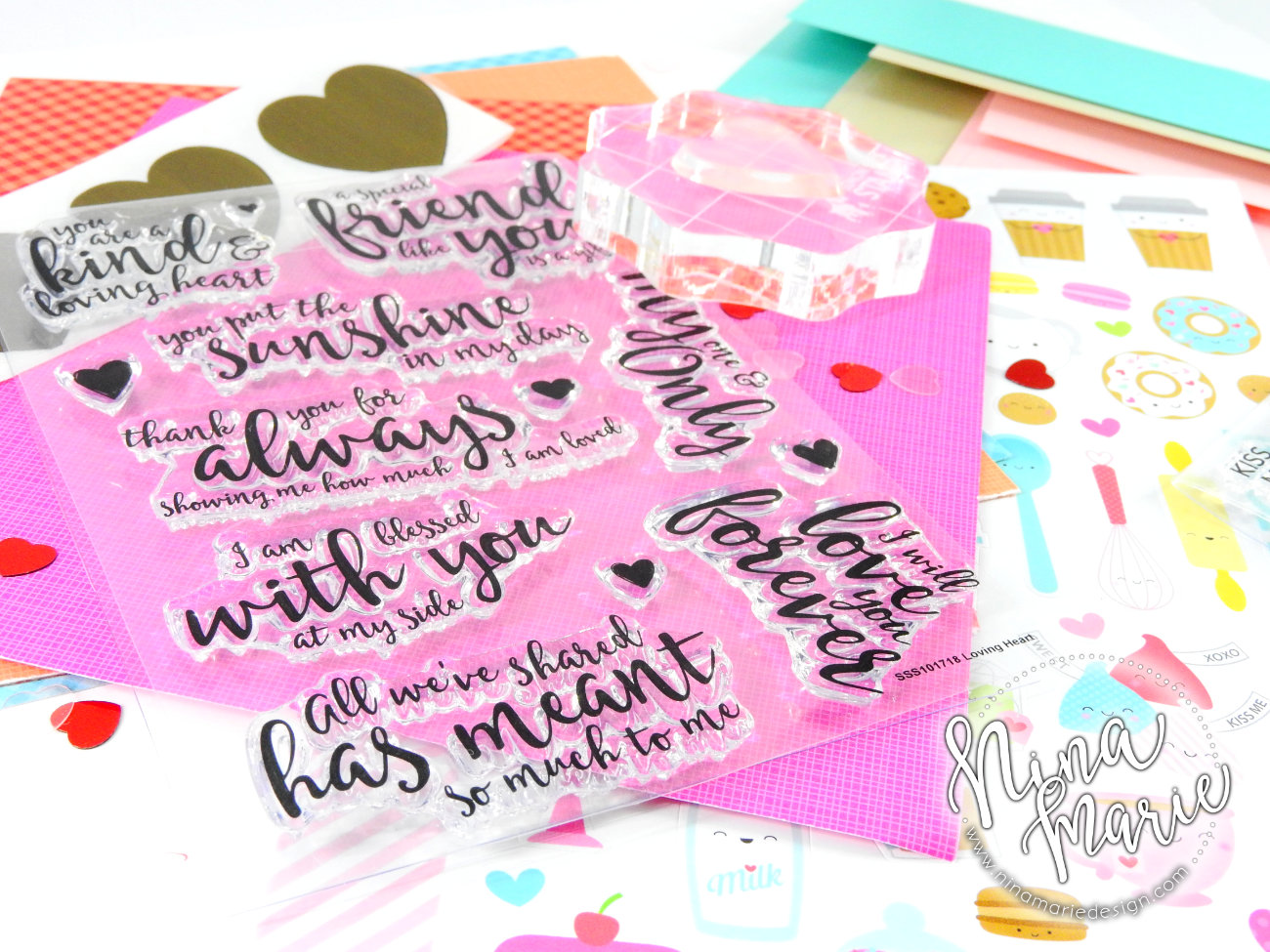 Love You Forever Simon Says Stamp | Nina-Marie Design