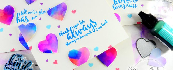 Alcohol Ink Die Cuts + Simon's Love You Forever Card Kit | Nina-Marie Design