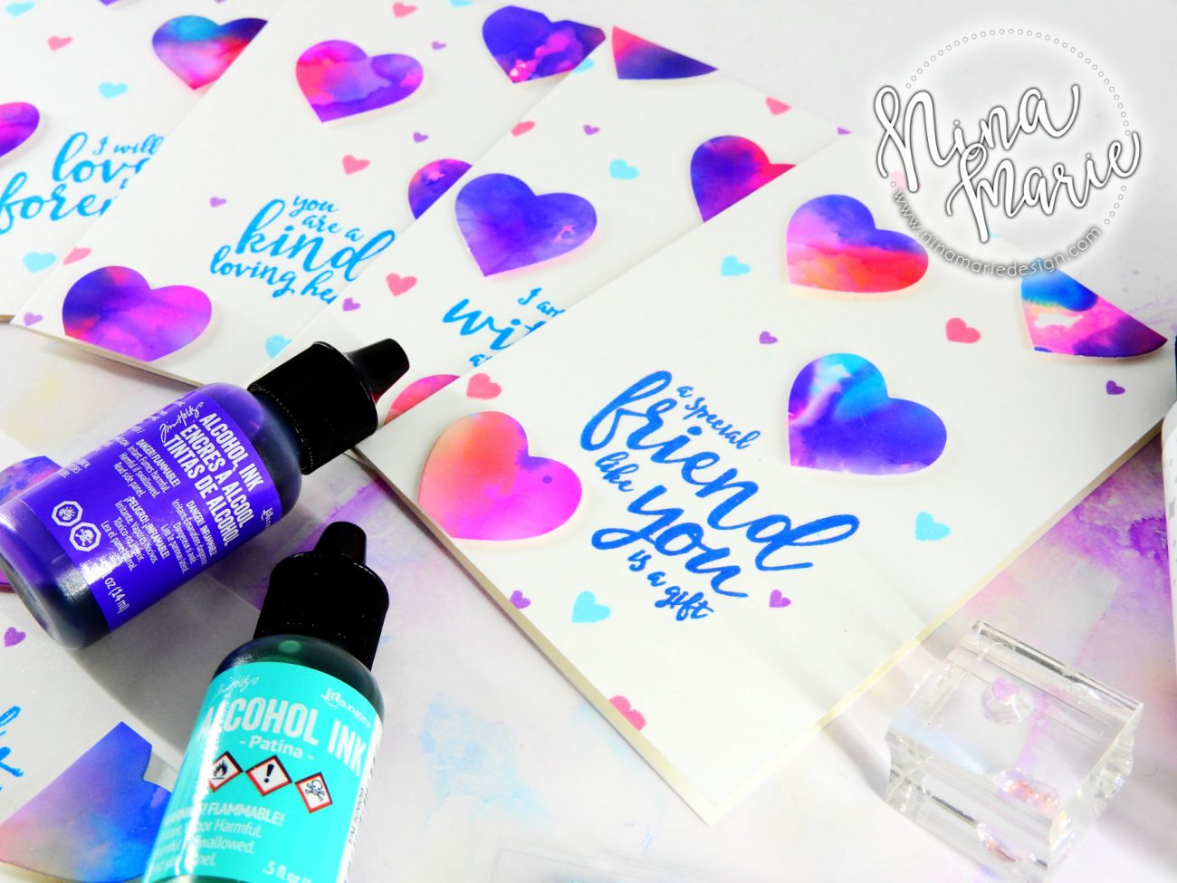 Alcohol Ink Die Cuts | Nina-Marie Design