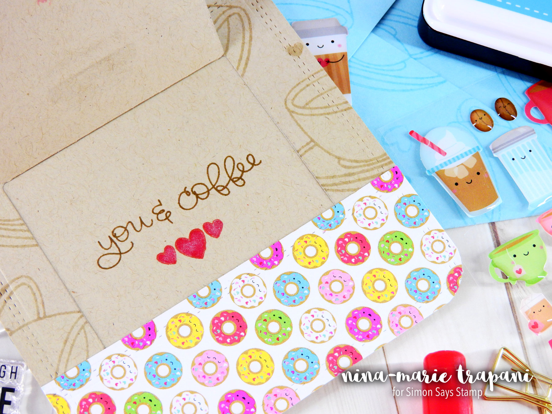 Copic Colored Die Cuts + Simon's February Card Kit Nina-Marie Design