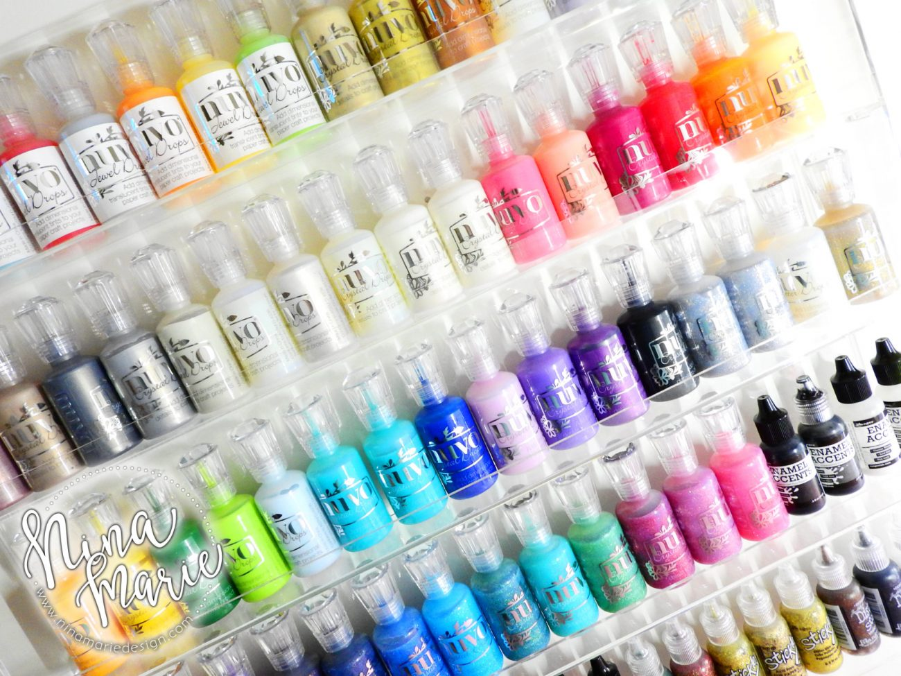 Craft Room Organization Nuvo Drops Enamel Accents | Nina-Marie Design