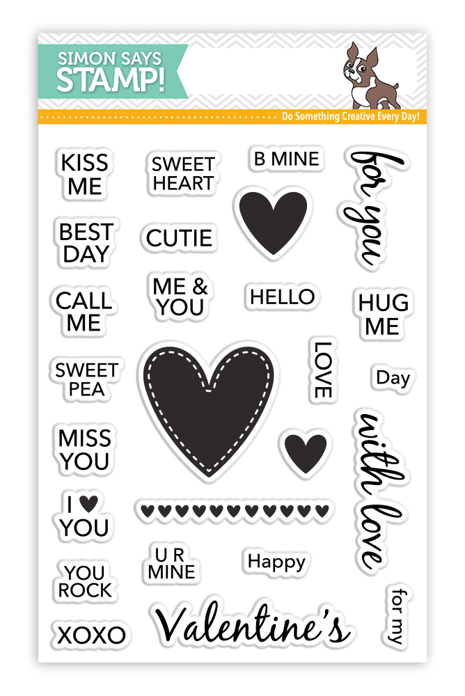 Candy Hearts Simon Says Stamp | Nina-Marie Design