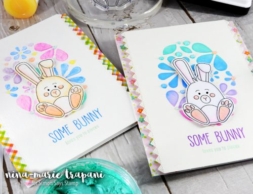 2 Ways to Use Embellishment Mousse with Stencils + Simon's March Card Kit