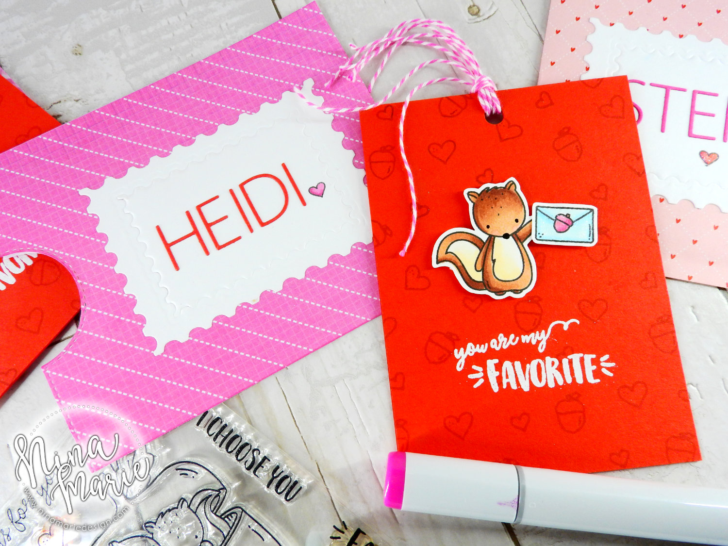 Notch Envelope + Pull Card + 5 Valentine Ideas | Nina-Marie Design