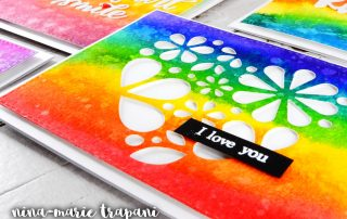 Prima Watercolor Confections Rainbow Cards | Nina-Marie Design