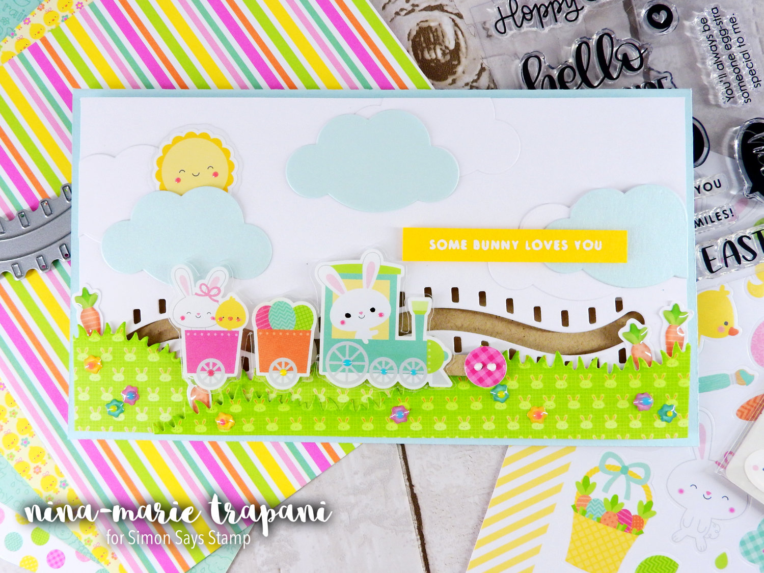 Sticker Slider Card + Simon's March 2017 Card Kit | Nina-Marie Design