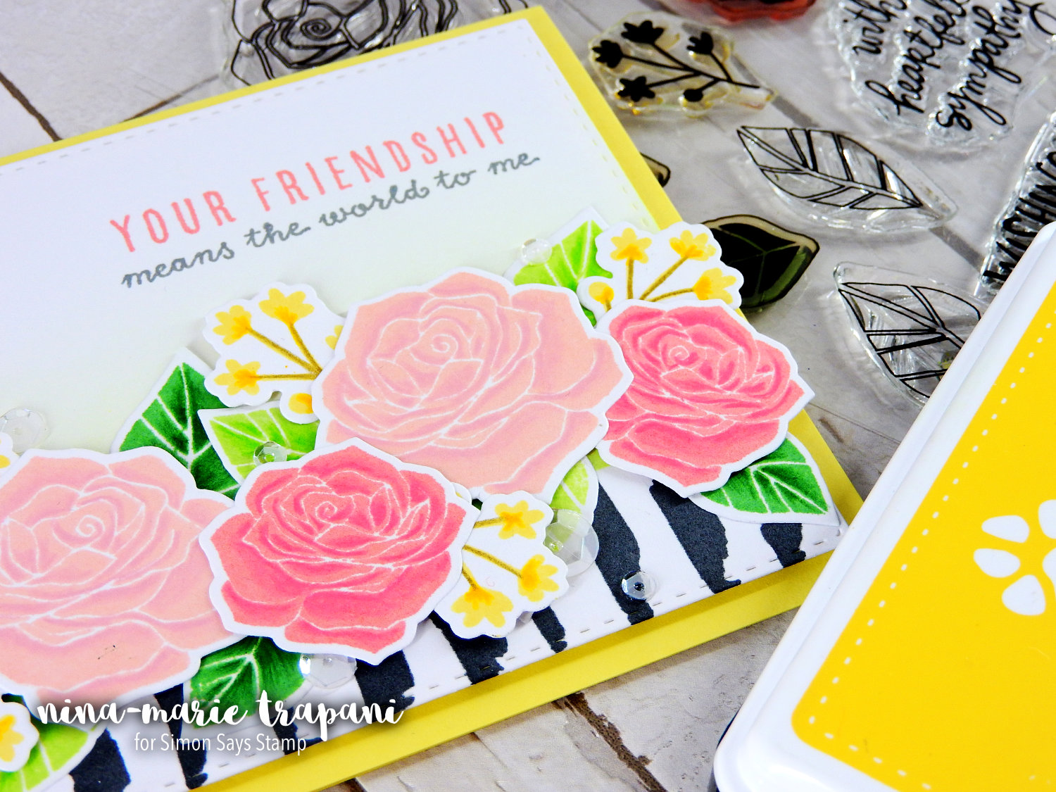 Adding Dimension to Solid Stamping | Nina-Marie Design