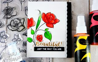 Stencils and Spray Ink + Altenew Release Hop | Nina-Marie Design