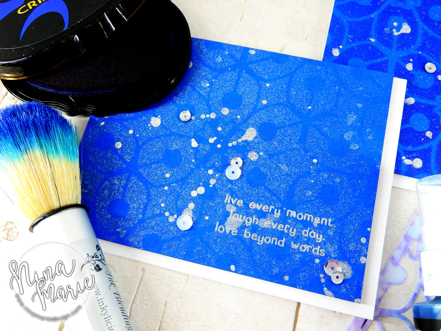 Stencils + Spray Ink 7 Ways + Altenew Release Hop | Nina-Marie Design