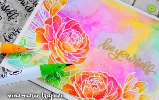 Fun with Watercolor + Simon's New Beginnings Release | Nina-Marie Design