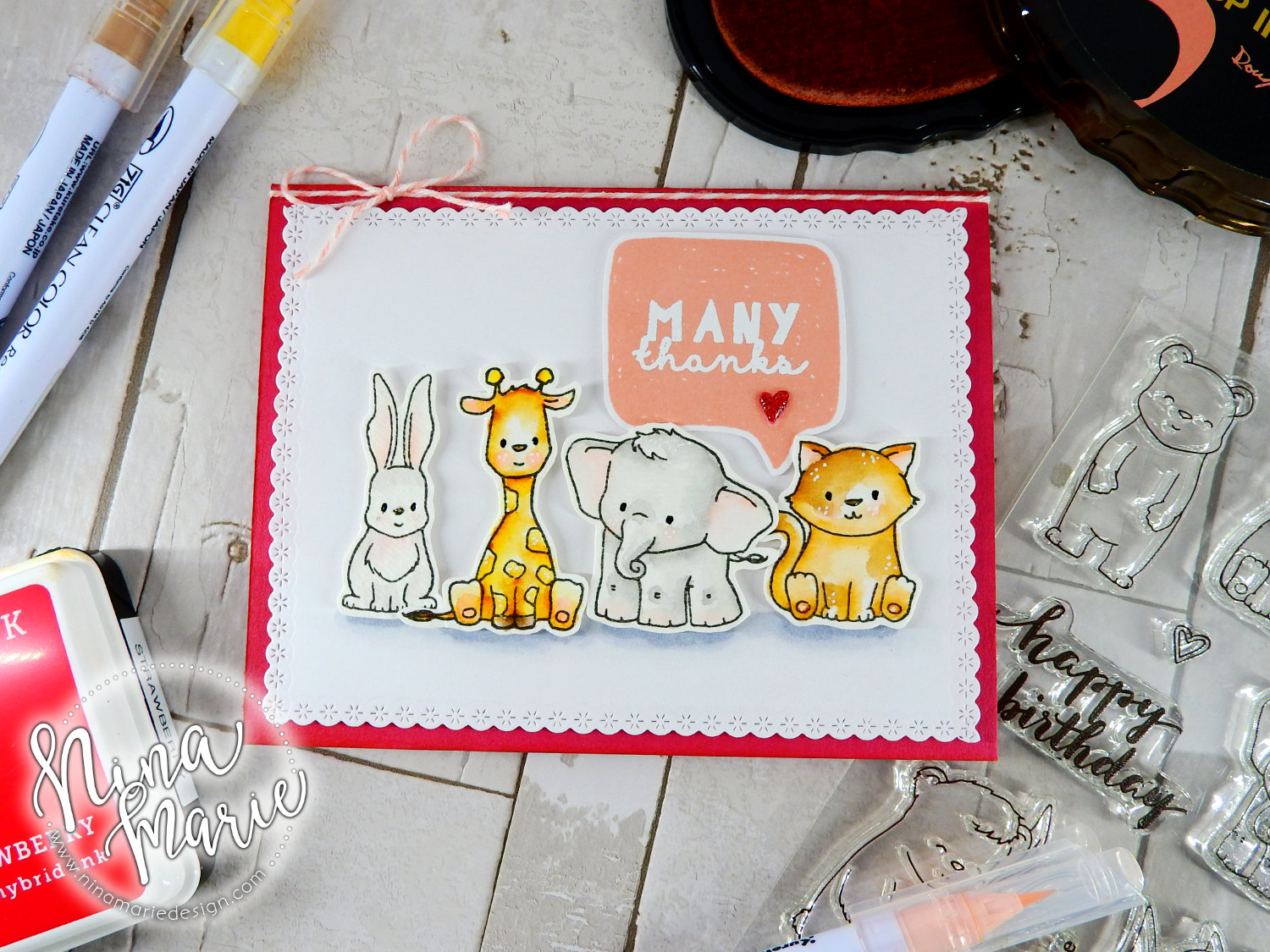 Zig Watercolor Critters + Winnie & Walter's 3rd Birthday Bash | Nina-Marie Design