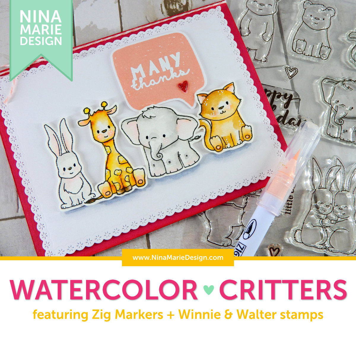 Zig Watercolor Critters + Winnie & Walter 3rd Birthday Bash | Nina-Marie Design
