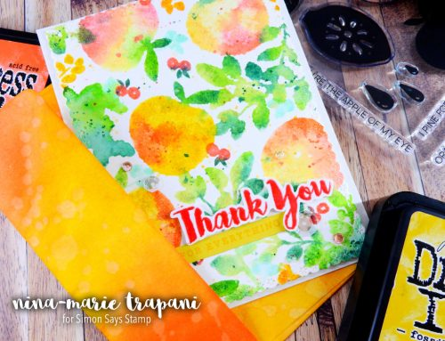 Studio Monday with Nina-Marie: Distress Watercolor Stamping