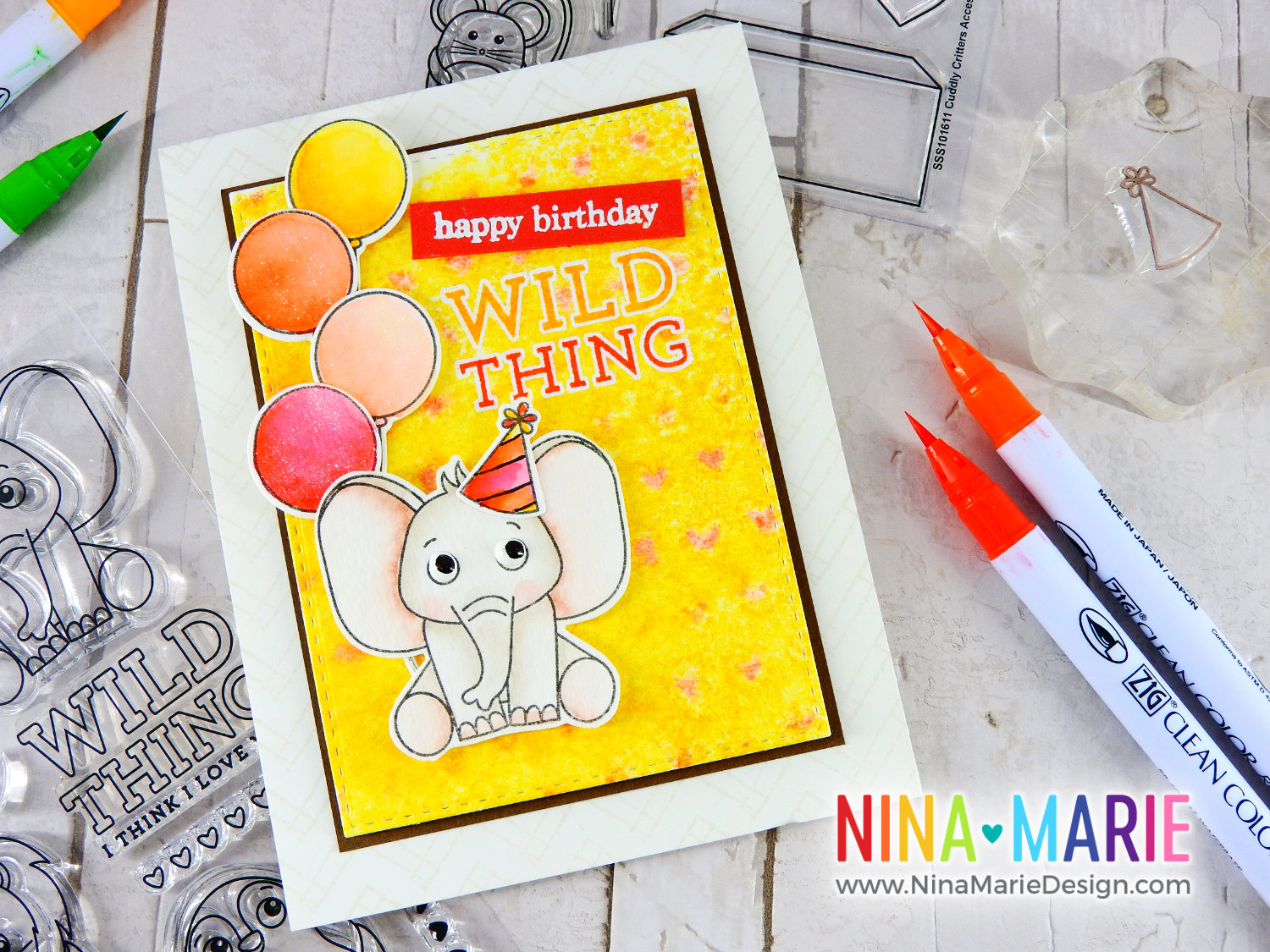 Gel Press + Distress Ink | Nina-Marie Design