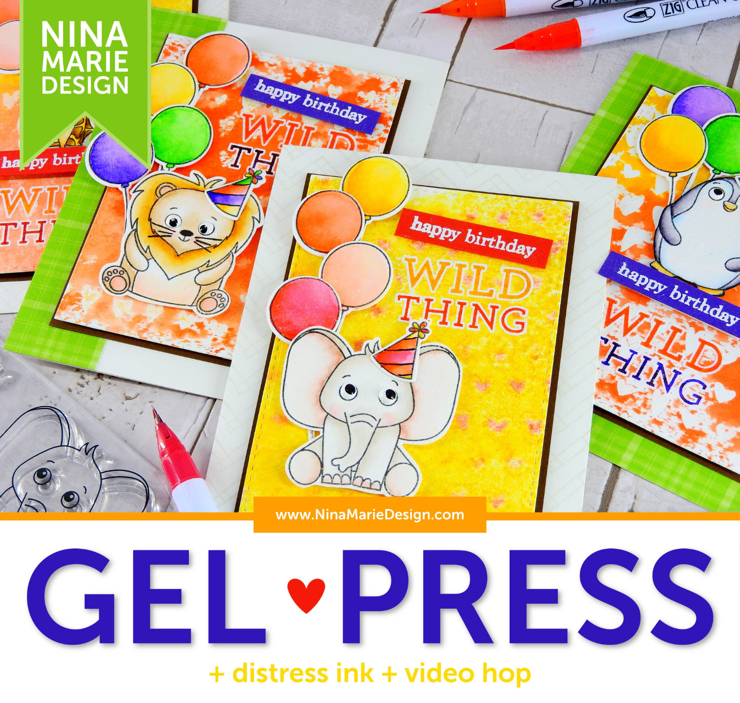 Gel Press + Distress Ink + Hop | Nina-Marie Design