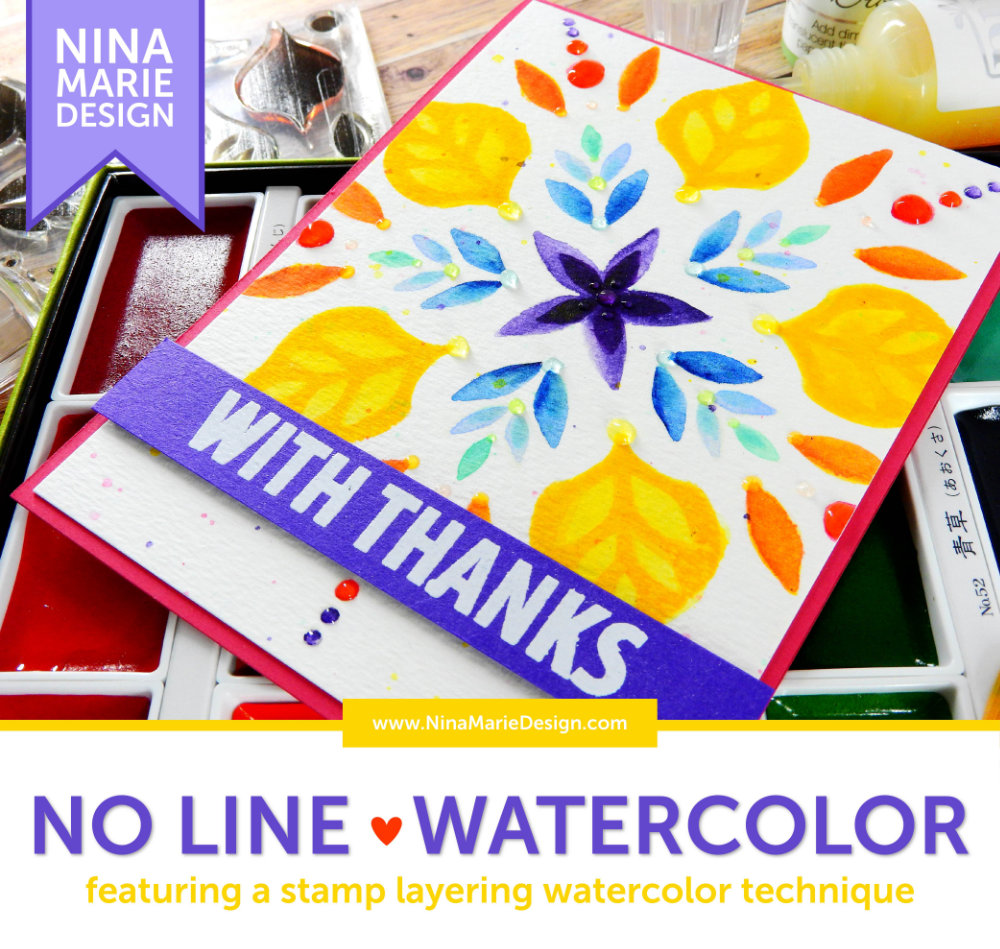 No Line Layered Watercolor | Nina-Marie Design