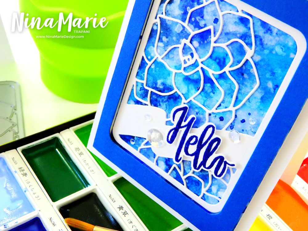 Painting Backgrounds with Gansai Tambi Watercolors | Nina-Marie Design