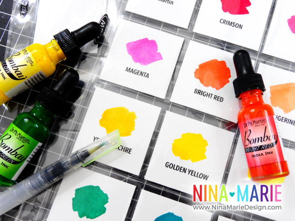 Craft Room Organization Quick Tips: Ph Martin India Inks | Nina-Marie Design