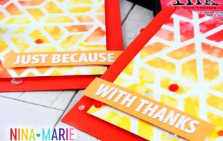 Stenciling with Background Dies | Nina-Marie Design
