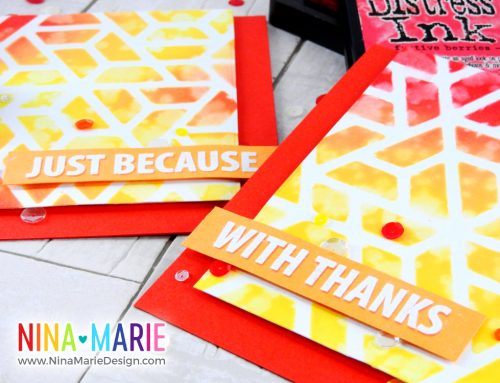 Stenciling with Background Dies