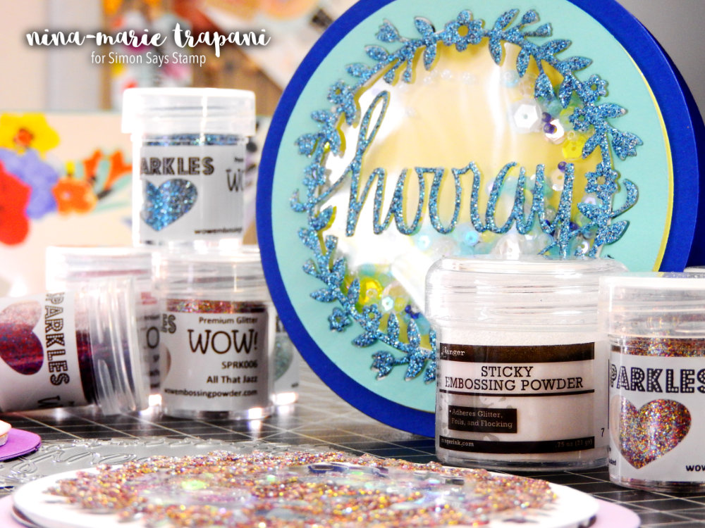 WOW! Glitter Die Cuts with Heat Embossing | Nina-Marie Design