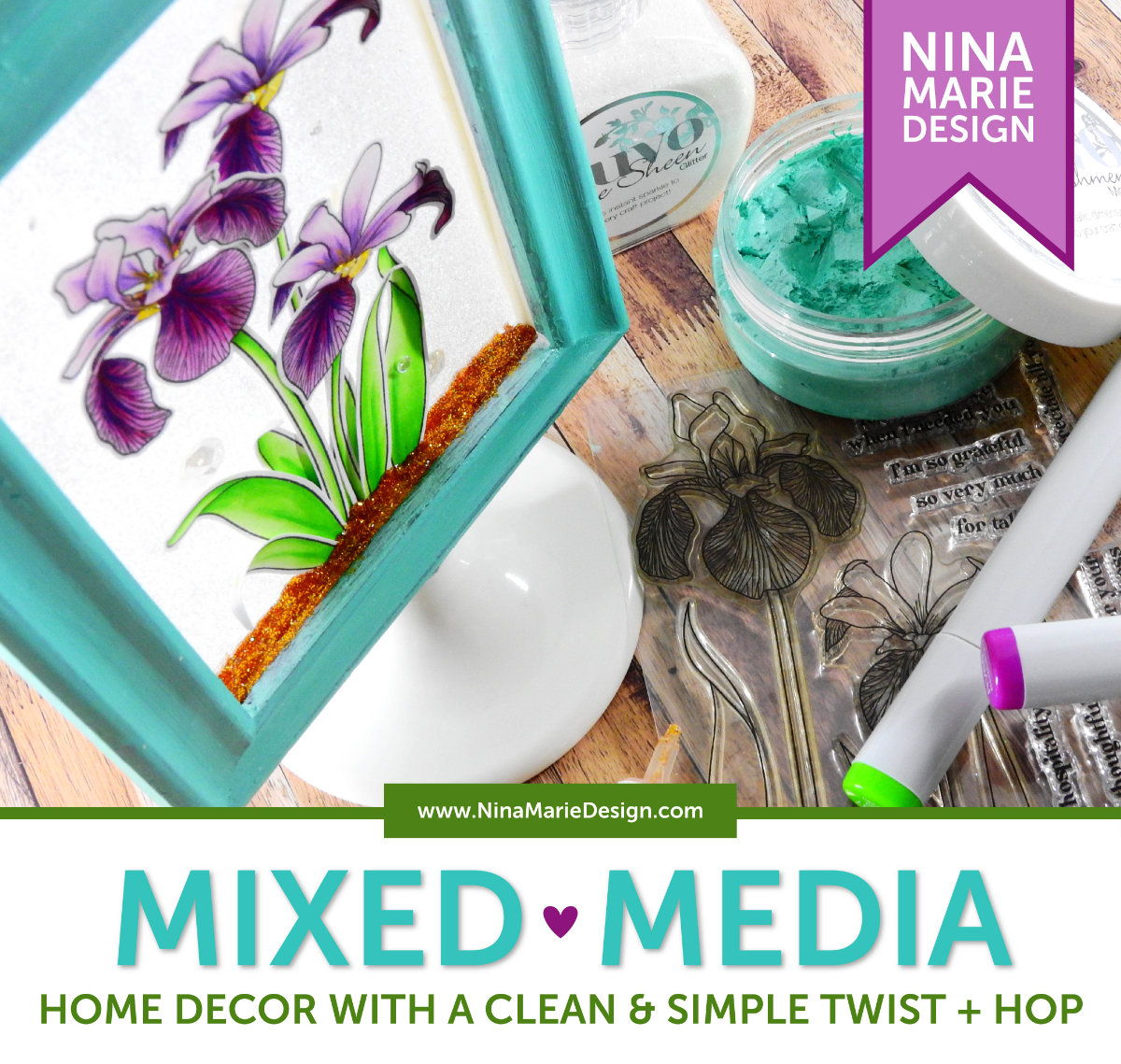 Mixed Media with a Clean and Simple Twist + Hop   Nina-Marie Design