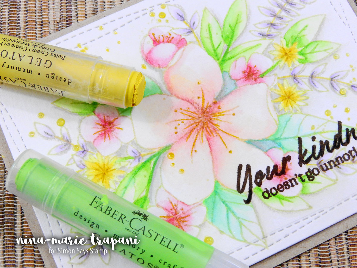 No-Line Watercoloring with Faber Castell Gelatos | Nina-Marie Design