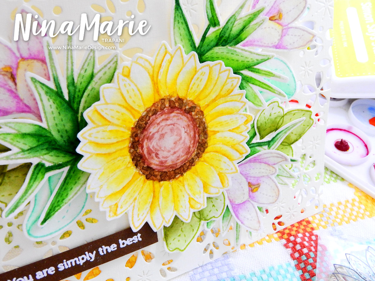 Wet on Wet Watercolor + Die Cut Background + Hop | Nina-Marie Design