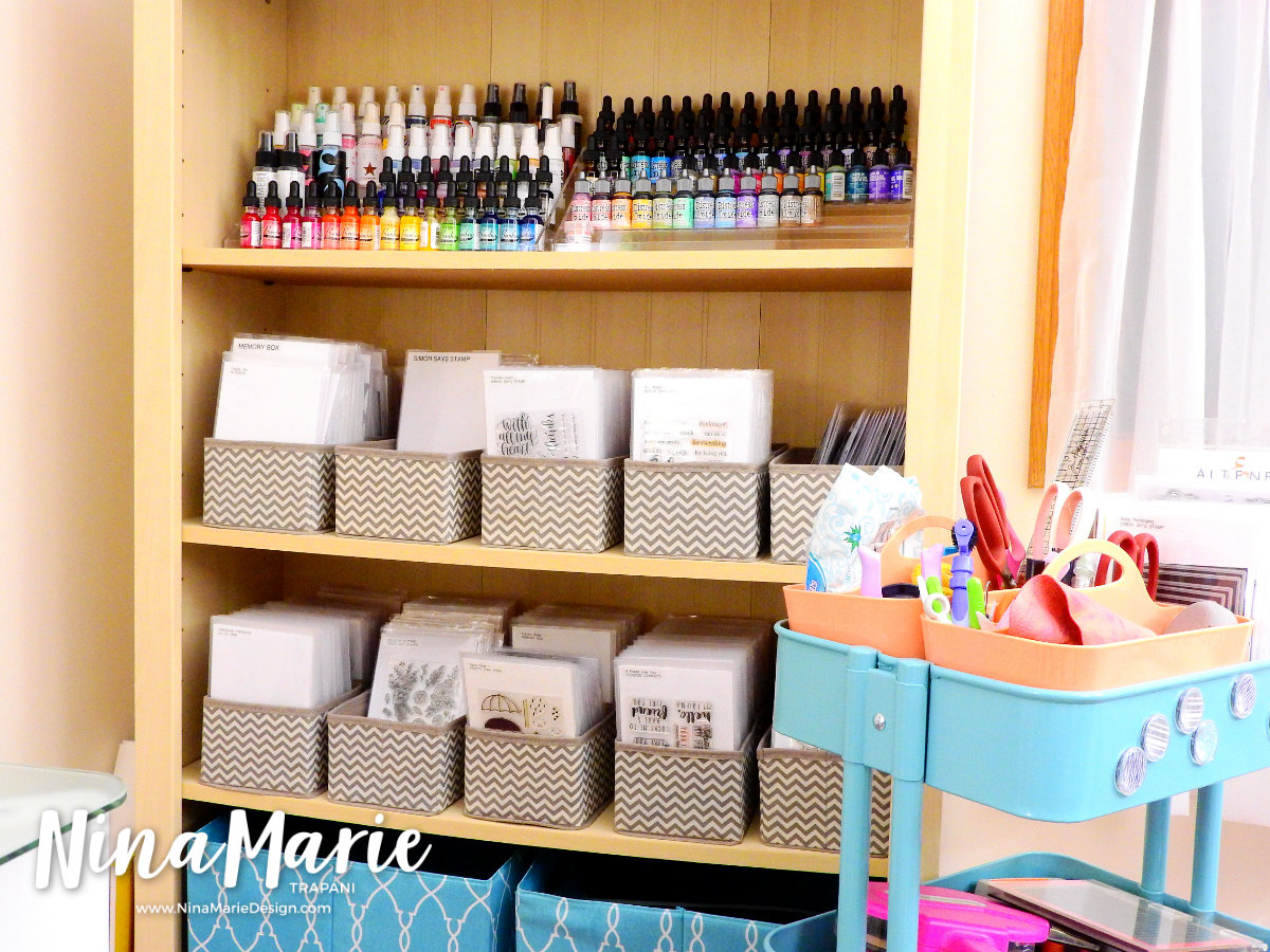 Craft Room Organization Quick Tips Stamp and Die Storage | Nina-Marie Design