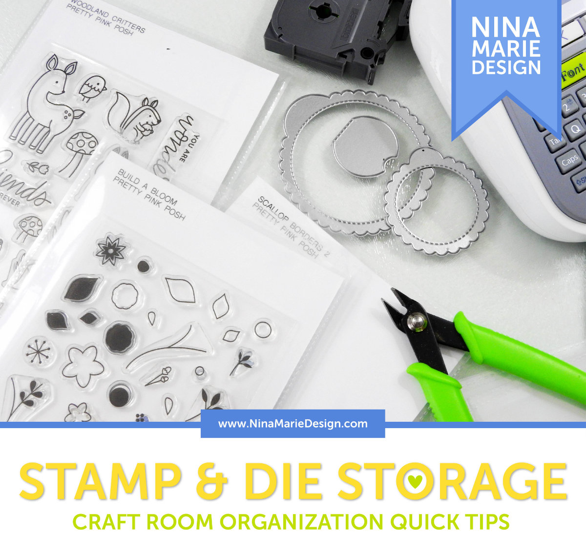 Craft Room Organization Quick Tips Stamps and Dies | Nina-Marie Design