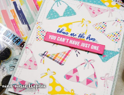 In Lay Die Cutting with Patterned Paper + Simon's July Card Kit