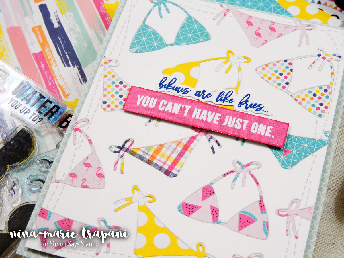 In Lay Die Cutting with Patterned Paper | Nina-Marie Design