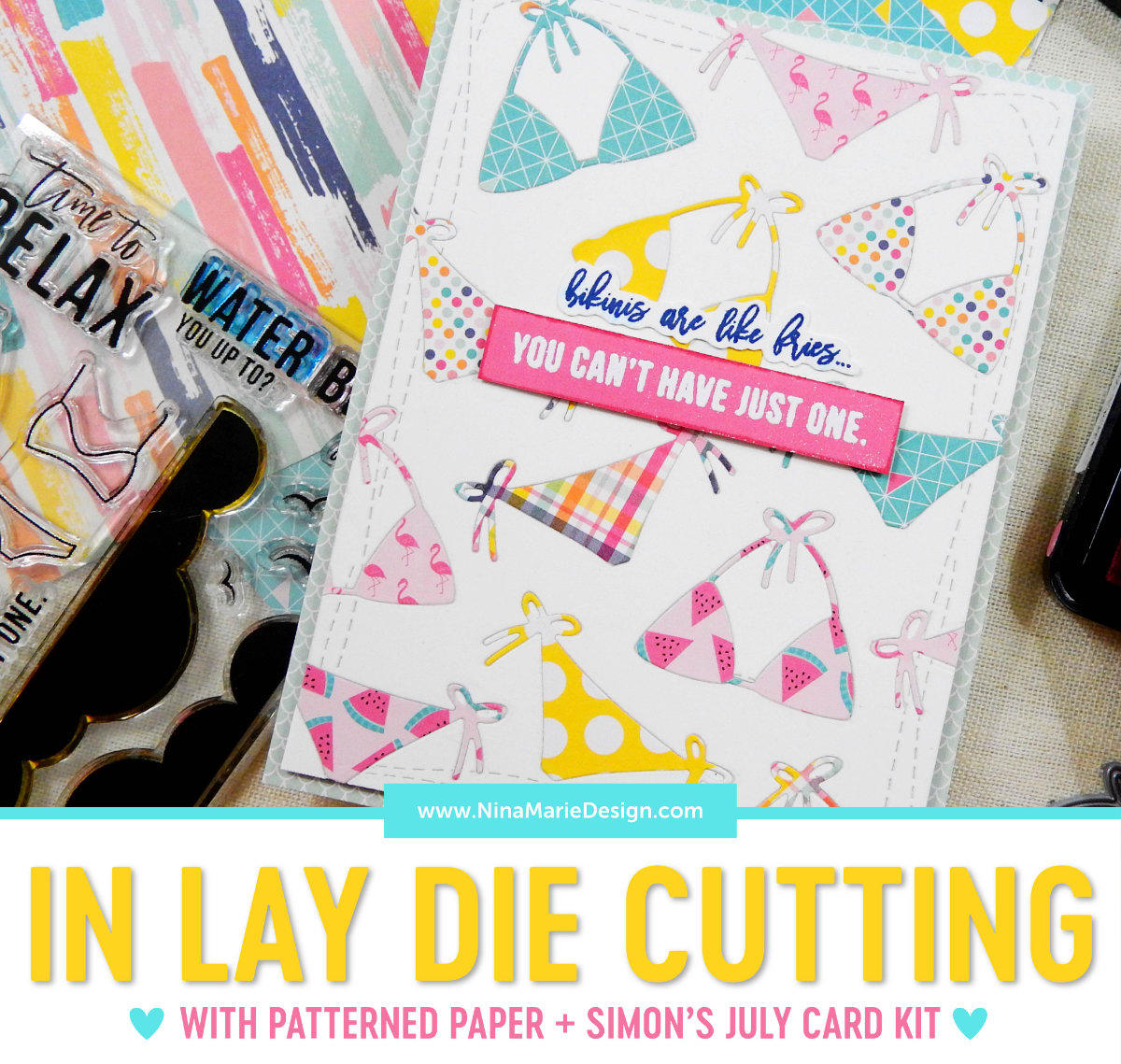 In Lay Die Cutting with Pattern Paper | Nina-Marie Design