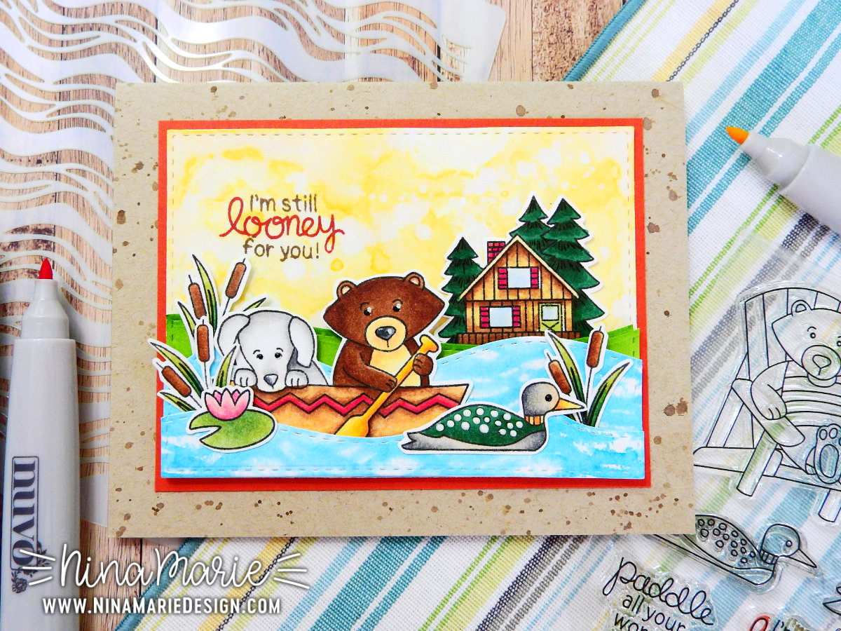 Building a Scene + Nuvo Creative Pen Markers + Newton's Birthday Hop | Nina-Marie Design