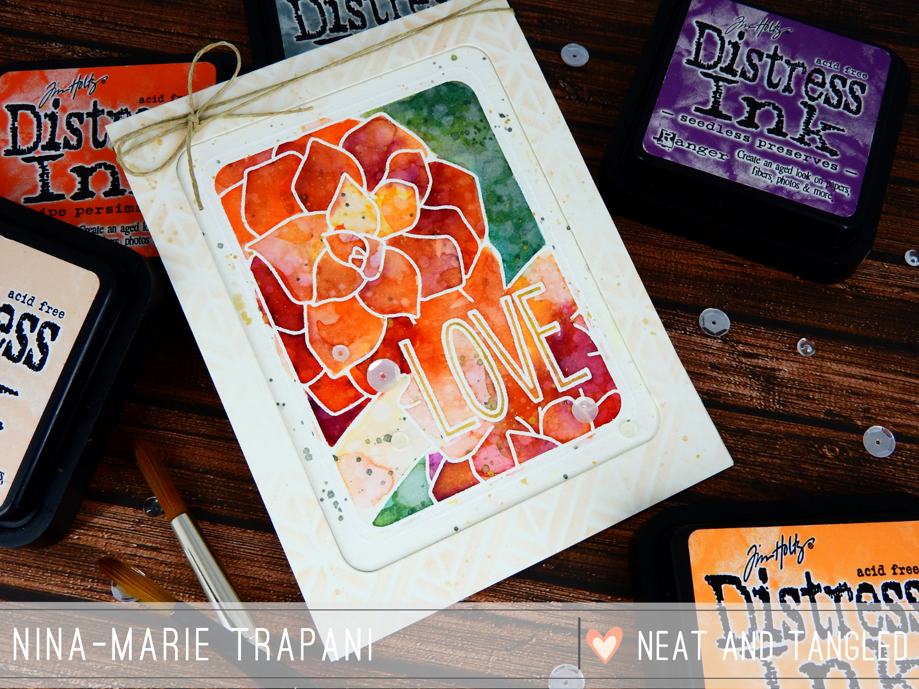 Recessed Panel + Distress Ink Watercoloring | Nina-Marie Design