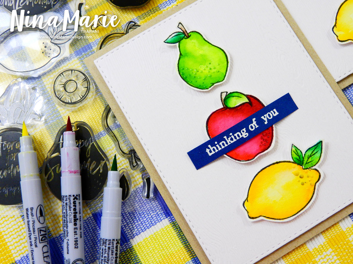 Watercolor with Zig Felt and Real Brush Markers | Nina-Marie Design